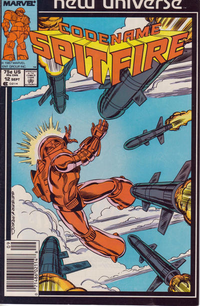 Cover for Codename: Spitfire (Marvel, 1987 series) #12 [Newsstand]