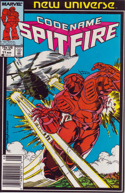Cover for Codename: Spitfire (Marvel, 1987 series) #11 [Direct Edition]