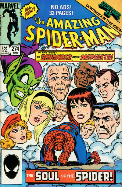 Cover for The Amazing Spider-Man (Marvel, 1963 series) #274 [Newsstand Edition]