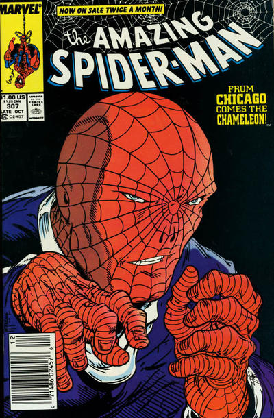 Cover for The Amazing Spider-Man (Marvel, 1963 series) #307 [Newsstand Edition]