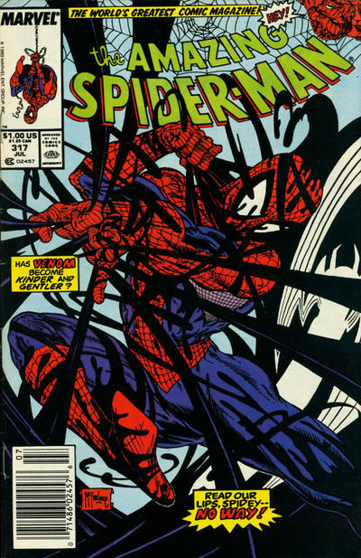 Cover for The Amazing Spider-Man (Marvel, 1963 series) #317 [Newsstand]