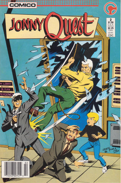 Cover for Jonny Quest (Comico, 1986 series) #2 [Newsstand Edition]