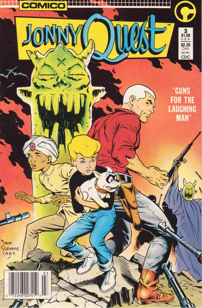 Cover for Jonny Quest (Comico, 1986 series) #3 [Direct Edition]