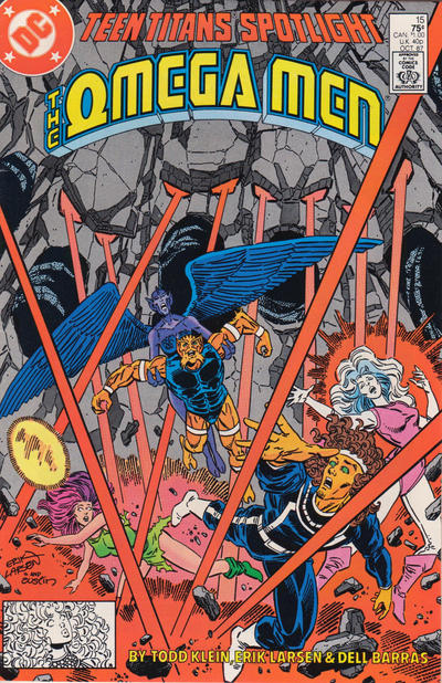 Cover for Teen Titans Spotlight (DC, 1986 series) #15 [Newsstand]