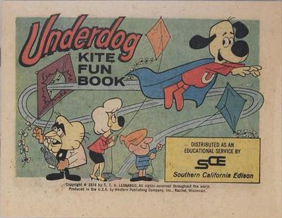 Cover for Underdog Kite Fun Book (Western, 1974 series) #[nn] [Southern California Edison Variant]
