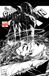 Cover Thumbnail for The Amazing Spider-Man (Marvel, 1999 series) #641 [Joe Quesada Black-and-White Variant Cover]