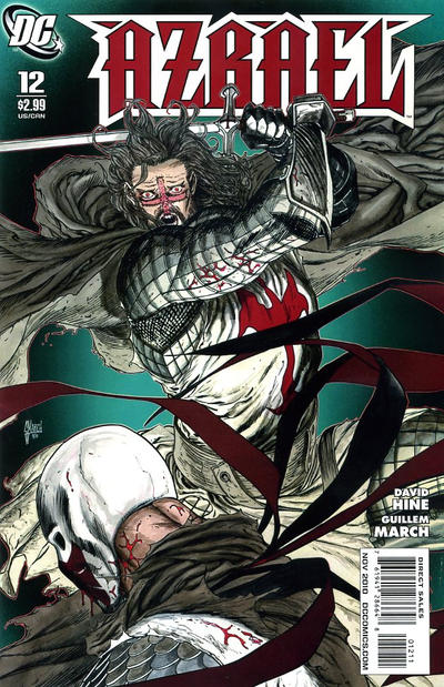 Cover for Azrael (DC, 2009 series) #12