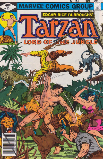 Cover for Tarzan (Marvel, 1977 series) #25 [Newsstand]