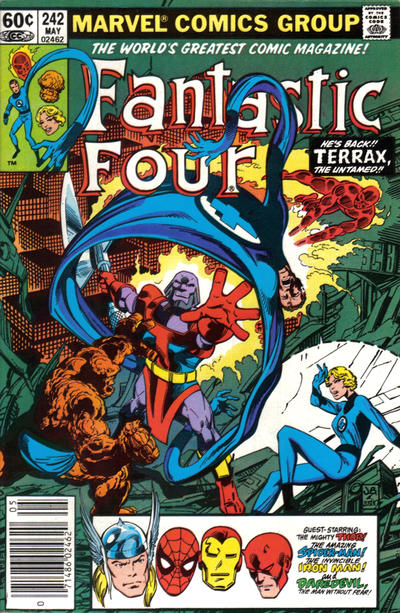 Cover for Fantastic Four (Marvel, 1961 series) #242 [Newsstand Edition]