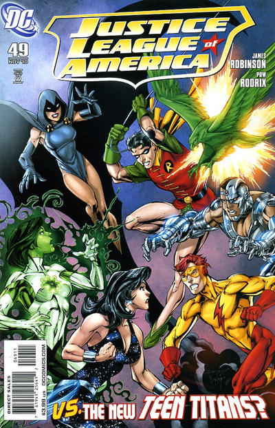 Cover for Justice League of America (DC, 2006 series) #49 [Francis Manapul Variant Cover]