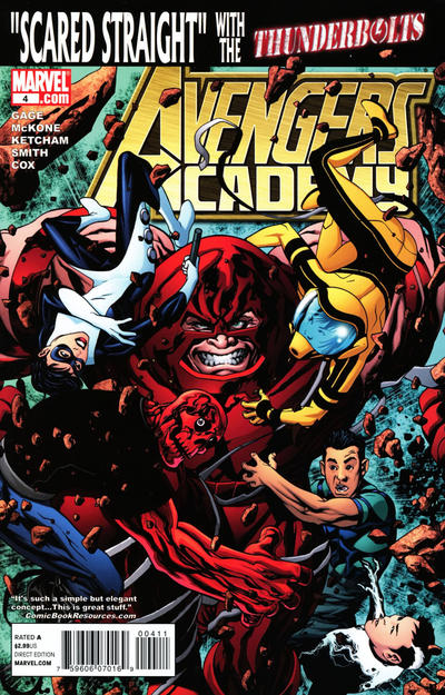 Cover for Avengers Academy (Marvel, 2010 series) #4 [McKone Variant Edition Cover]