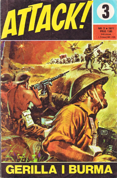 Cover for Attack (Semic, 1967 series) #3/1971