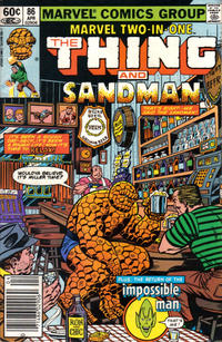 Cover for Marvel Two-in-One (Marvel, 1974 series) #86 [Direct]
