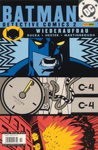 Cover Thumbnail for Batman: Detective Comics (Panini Deutschland, 2002 series) #2 - Wiederaufbau