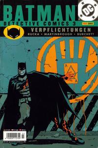 Cover Thumbnail for Batman: Detective Comics (Panini Deutschland, 2002 series) #3 - Verpflichtungen