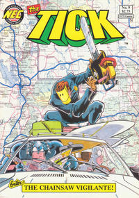 Cover Thumbnail for The Tick (New England Comics, 1988 series) #9 [2nd printing]