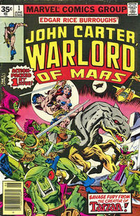 Cover Thumbnail for John Carter Warlord of Mars (Marvel, 1977 series) #1 [35 cent cover price variant]