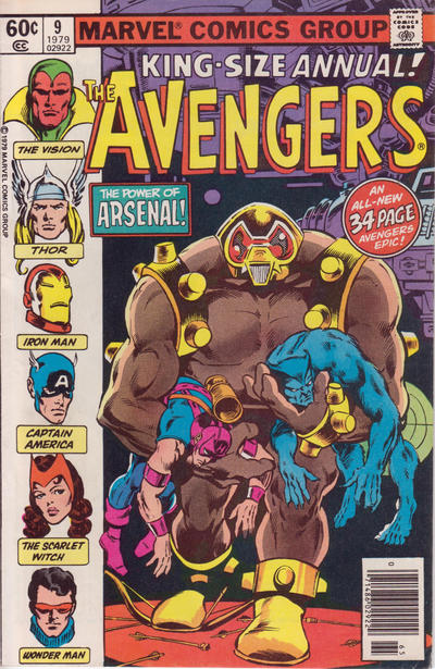 Cover for The Avengers Annual (Marvel, 1967 series) #9 [Direct Edition]