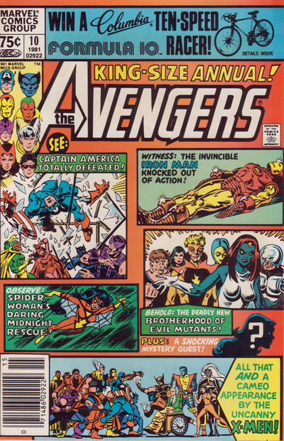 Cover for The Avengers Annual (Marvel, 1967 series) #10 [Newsstand Edition]