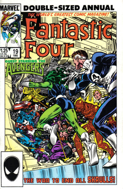 Cover for Fantastic Four Annual (Marvel, 1963 series) #19 [Newsstand Edition]
