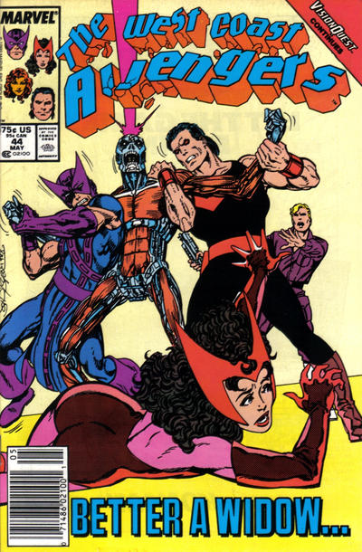 Cover for West Coast Avengers (Marvel, 1985 series) #44 [Newsstand Edition]