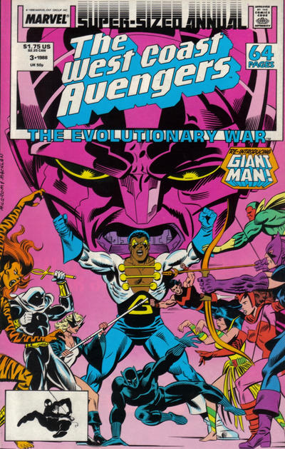Cover for The West Coast Avengers Annual (Marvel, 1986 series) #3 [Direct]