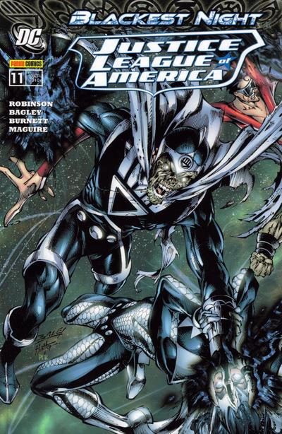 Cover for Justice League of America Sonderband (Panini Deutschland, 2007 series) #11 - Blackest Night
