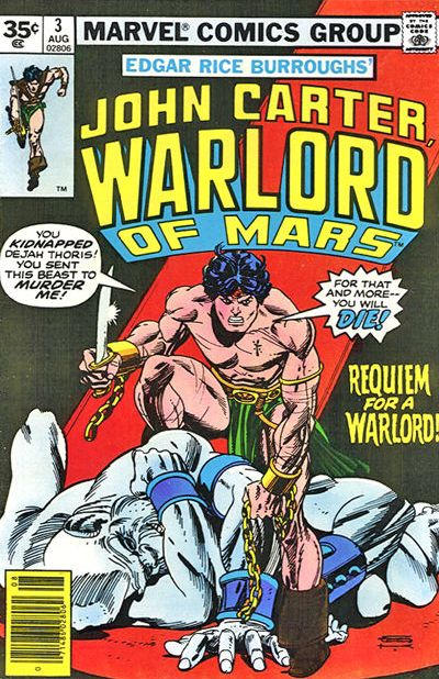 Cover for John Carter Warlord of Mars (Marvel, 1977 series) #3 [30¢]