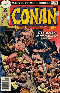 Cover for Conan the Barbarian (Marvel, 1970 series) #64 [25¢ Cover Price]