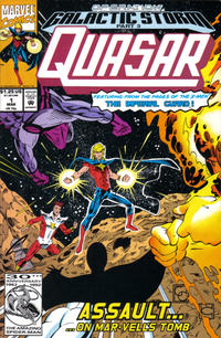 Cover Thumbnail for Quasar (Marvel, 1989 series) #32 (1) [Direct (Number 1)]