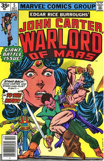 Cover for John Carter Warlord of Mars (Marvel, 1977 series) #5 [30¢]