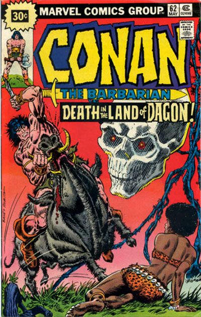 Cover for Conan the Barbarian (Marvel, 1970 series) #62 [25¢ Cover Price]