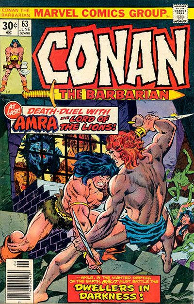 Cover for Conan the Barbarian (Marvel, 1970 series) #63 [25¢ Cover Price]