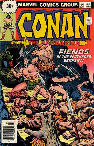 Cover for Conan the Barbarian (Marvel, 1970 series) #64 [30¢ Price Variant]