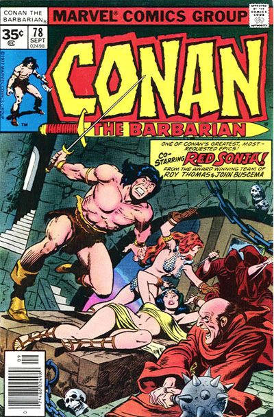 Cover for Conan the Barbarian (Marvel, 1970 series) #78 [35¢ Price Variant]