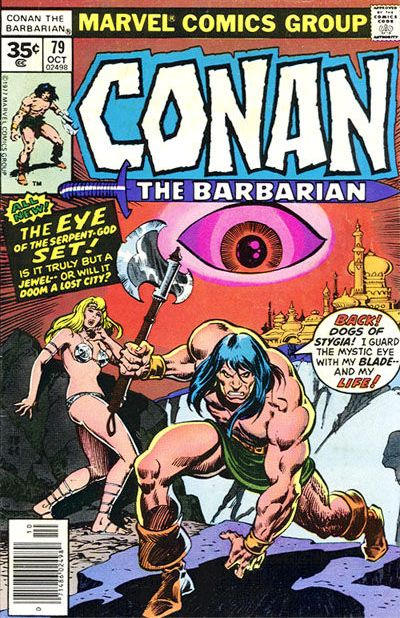 Cover for Conan the Barbarian (Marvel, 1970 series) #79 [35¢ Price Variant]