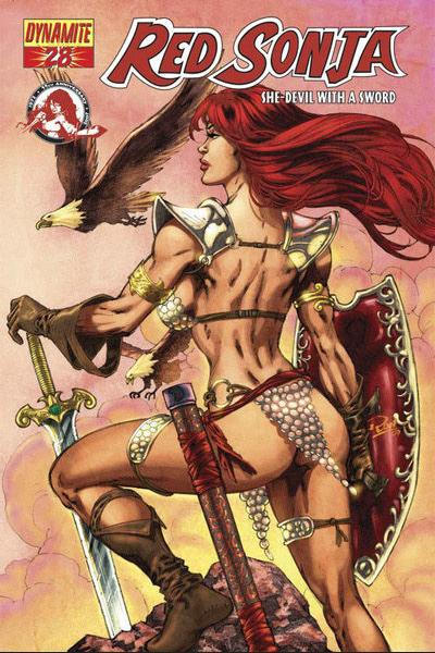 Cover for Red Sonja (Dynamite Entertainment, 2005 series) #28 [Mel Rubi Cover]