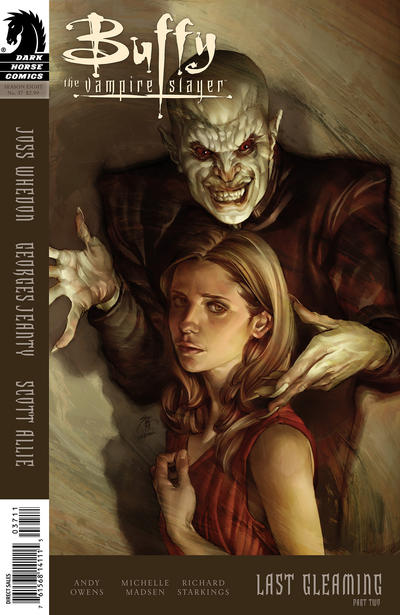 Cover for Buffy the Vampire Slayer Season Eight (Dark Horse, 2007 series) #37 [Alternate Cover - Georges Jeanty, Dexter Vines, & Michelle Madsen]