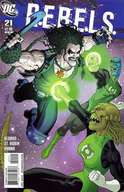 Cover for R.E.B.E.L.S. (DC, 2009 series) #21