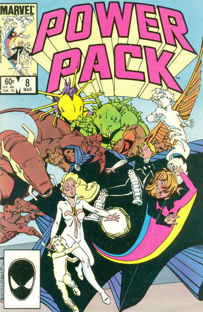 Cover for Power Pack (Marvel, 1984 series) #8 [Direct Edition]