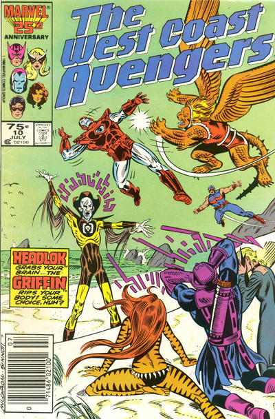 Cover for West Coast Avengers (Marvel, 1985 series) #10 [Direct Edition]