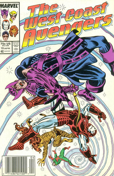 Cover for West Coast Avengers (Marvel, 1985 series) #19 [Newsstand Edition]