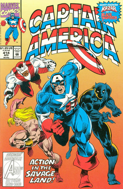 Cover for Captain America (Marvel, 1968 series) #414 [Newsstand Edition]
