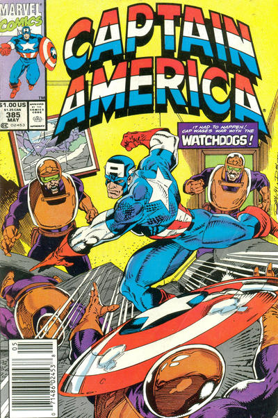 Cover for Captain America (Marvel, 1968 series) #385 [Newsstand Edition]