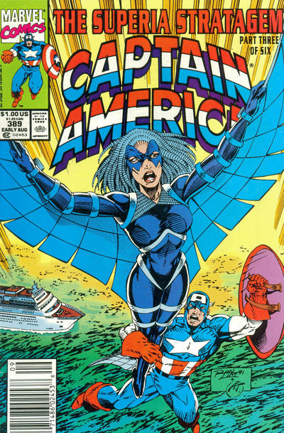 Cover for Captain America (Marvel, 1968 series) #389 [Direct Edition]