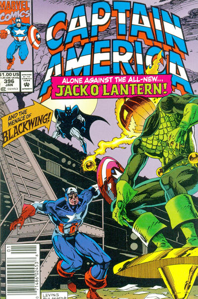 Cover for Captain America (Marvel, 1968 series) #396 [Newsstand]