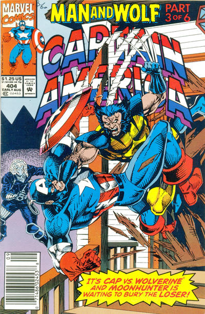Cover for Captain America (Marvel, 1968 series) #404 [Newsstand Edition]