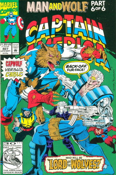 Cover for Captain America (Marvel, 1968 series) #407 [Direct Edition]