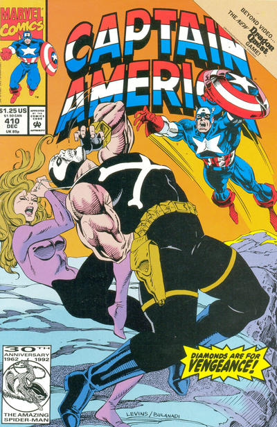 Cover for Captain America (Marvel, 1968 series) #410 [Newsstand Edition]