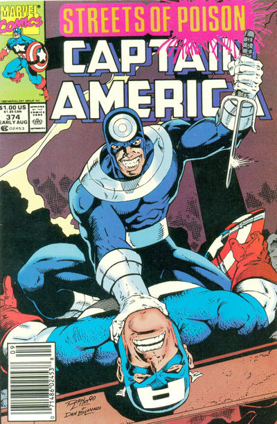 Cover for Captain America (Marvel, 1968 series) #374 [Newsstand Edition]